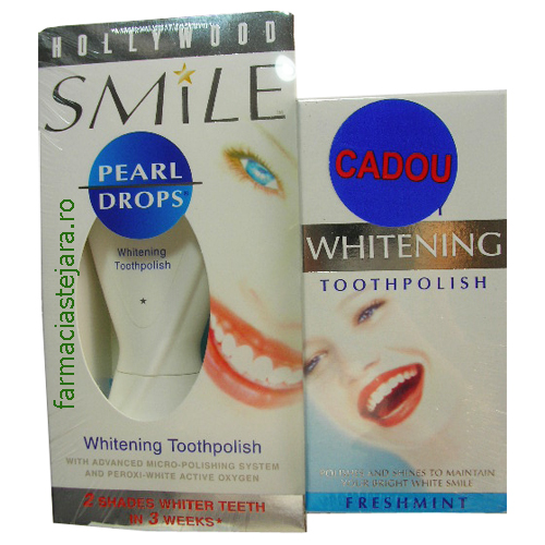 Cadou  Pearl Drops  Hollywood  Smile  + Whitening  Toothpolish