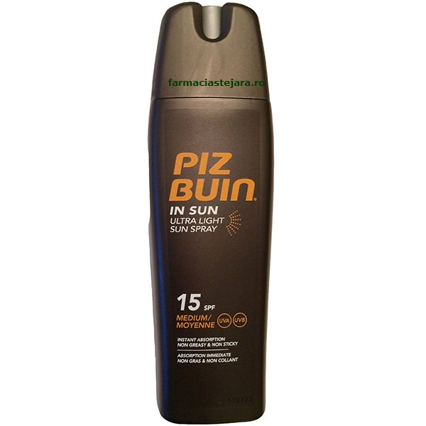 PizBuin UltraLight-Spray hidratant protectie solara SPF 15 200ml