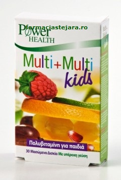 Multi+Multi Kids Power of naturex 30 tablete masticabile