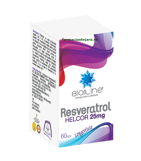 Helcor Resveratrol 25 mg Comprimate X 60